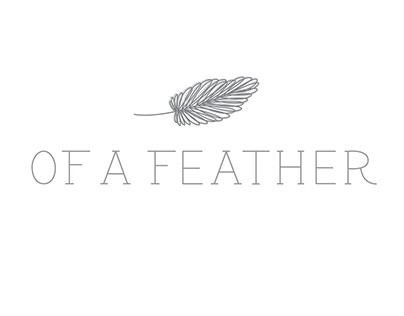 of a feather lettering