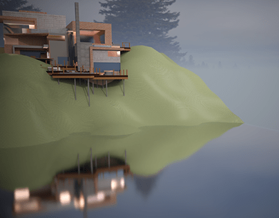 Modern house in the wilderness