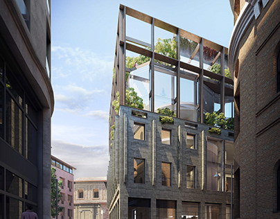 Building redevelopment, Milan