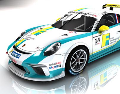 Porsche GT3 Cup car Livery Designs