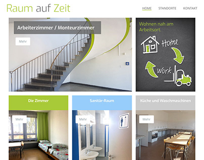 Website: Raum auf Zeit