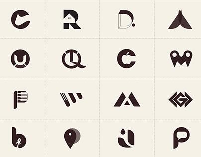 Letter logo marks