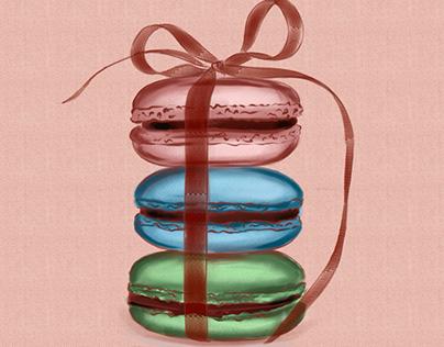 Macarons Digital Art