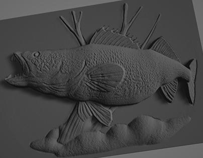 3D Fish relief