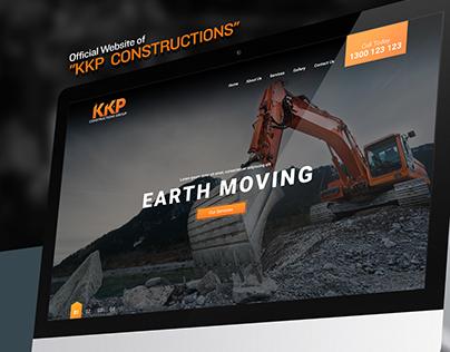 KKP Construction Web Mockup