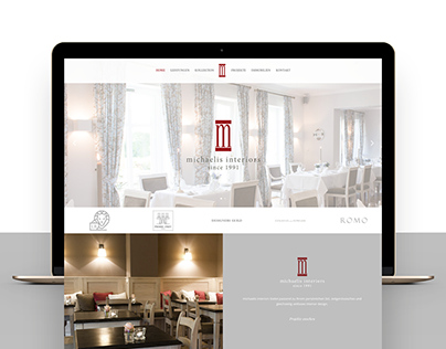 michaelis interiors – Redesign and concept of website