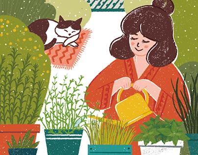 illustration for newspaper