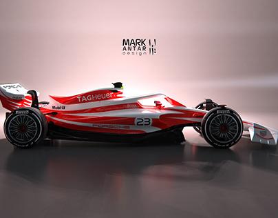 2022 Porsche F1 livery - Salzburg
