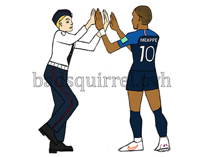 MBappe and Pussy Riot high five - World Cup 2018