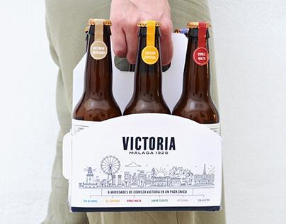 Diseño de packaging y etiquetas para Cervezas Victoria