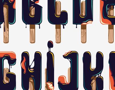 Typeface - dark ice cream