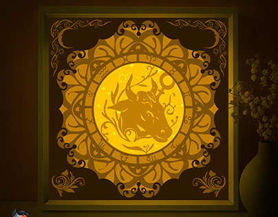 Zodiac Taurus Light box template