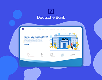 Deutsche Bank redesign main page
