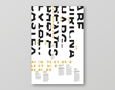 Poster Design | Architecture Lecture Series