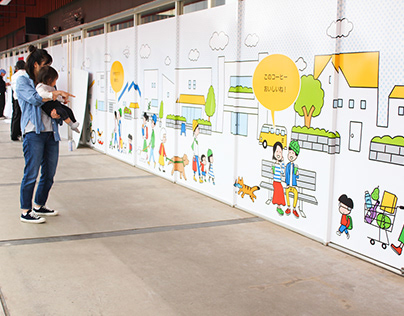 Wall illustration(keyaki Mall )