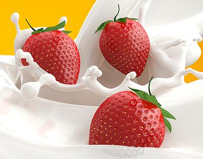 3D strawberry