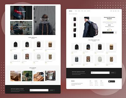 Bagu Minimal E-Commerce Web Site Design