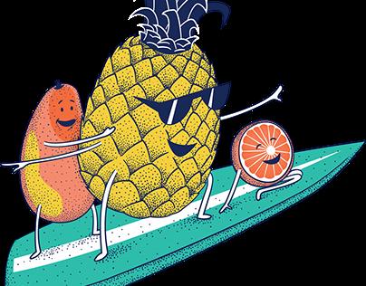 Health-Ade Kombucha Character Illustrations