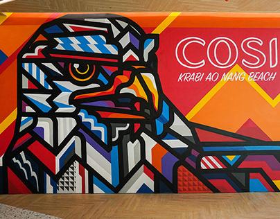 Red Hawk for Cosi Hotel /Lobby