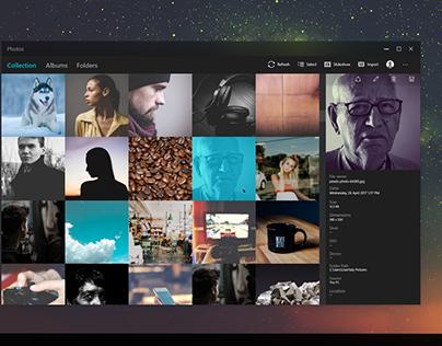 Redesign Concept - Photos for Windows 10