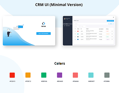 Dashboard UI for CRM (Minimal version)