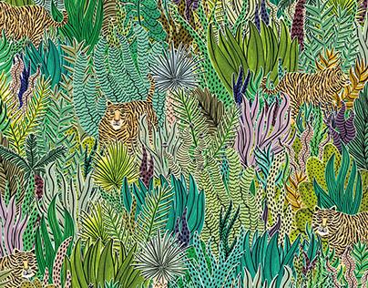 Jungle Tigers by Veronique de Jong