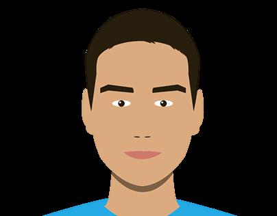 Flat Design Portrait