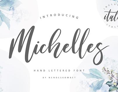 Michelles a hand lettered font