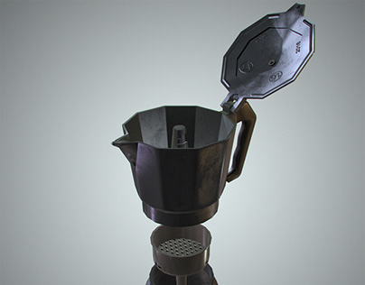 Moka low and high poly