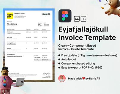 Eyjafjallajökull Invoice Figma Template