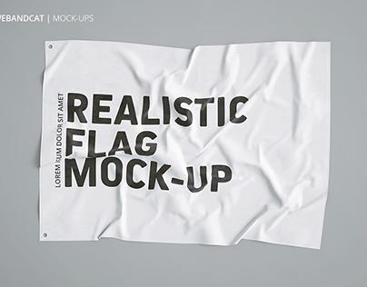 3D FLAG MOCK-UP + FREE SCENE