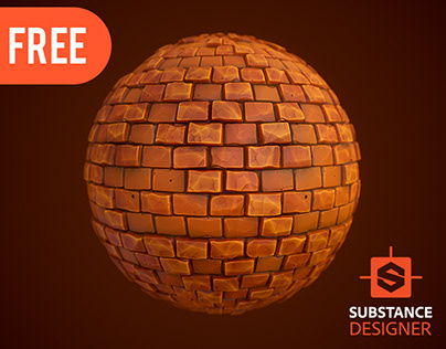 Substance Designer | Stylized Brick Wall