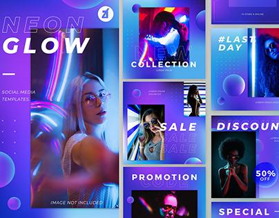Neon Glow - Social Media Templates