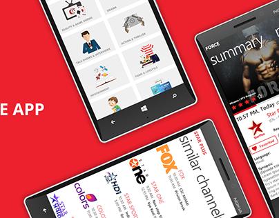 TV Guide App for Windows Mobile