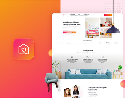 Spacejoy Branding & Web design