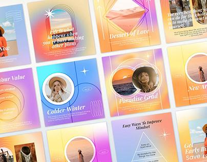 Gradient Instagram Posts & Stories Templates