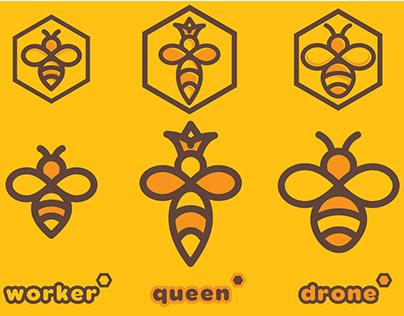 Bee logo set 2