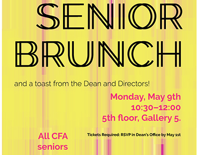 Senior Brunch poster