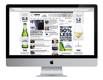 Pure Blonde Low Calorie Beer - Conceptual Design