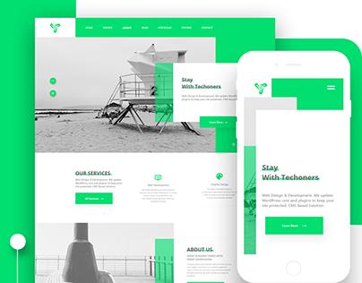 Techoners Website UI Design