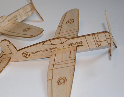 Balsa Wood Promotional Airplane
