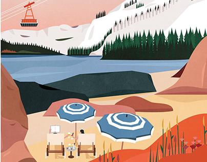 Sunny winter landscape - Magazine cover