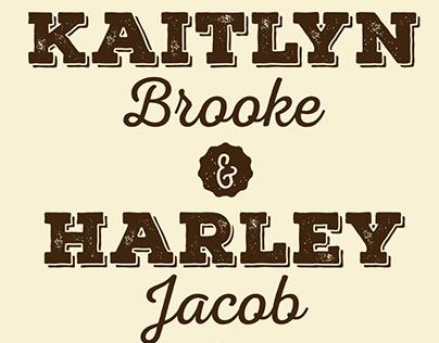 Harley and Kaitlyn Wedding Invitation