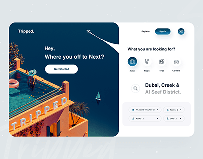 Tripped : Web App Design ✈