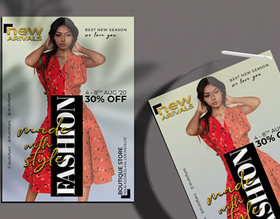 Fashion New Arrival Flyer Free PSD Template