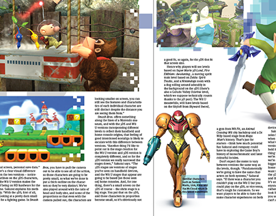 Fictional Video Game Magazine Spread Layouts