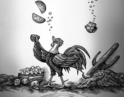 Espolon Cristilano Label Illustrated by Steven Noble