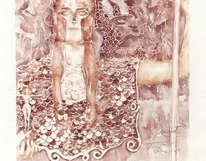 Gustav Klimt painted with Wine