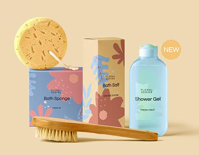 Cosmetic packaging mockup template