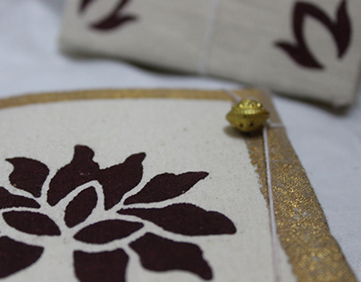 Lotus | Block printed | stationery collection